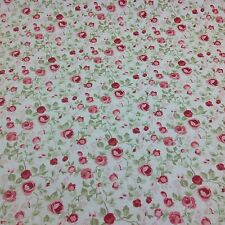 Clarke and Clarke Maude Old Rose Floral Cotton Fabric for Curtain/Upholstery.