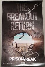 SDCC Comic Con 2016 Prison Break Cast Signed Poster Wentworth Miller +4 Lot A