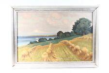 très belle ancienne Cadre d'Image verre noir Cadre avec image Domaine Paysage