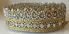 1 Meters Mirror Stone Zari Dupatta Sari Border lace Ribbon Trim Indian