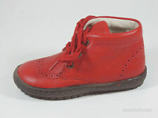 Bo-bell Kids Fire 21 Red Leather Lace Boots UK 6 EU 23 US 6.5 RRP £44.00