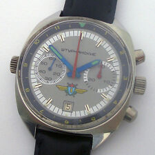 USSR Military Air Force Chronograph POLJOT Navigator Shturmanskie Steel Case