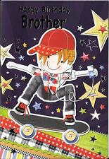 CHILDREN'S BIRTHDAY CARD FOR A BROTHER - SKATEBOARDING
