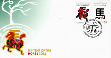 Christmas Island Australia 2014 FDC Year of Horse 2v Cover Chinese Zodiac Stamps