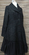 LAGENLOOK*KEKOO*AMAZING BEAUTIFUL 2 POCKETS JACKET/COAT*CHARCOAL*Size 38-40
