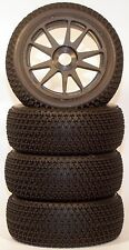 1/8 Tri-Dot BSK Pre-Mounted 1/8 Buggy Tires Glued