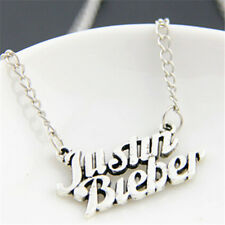 Fashion Exquisite Women Men Charm justin bieber Pendant Charm Silver Necklace