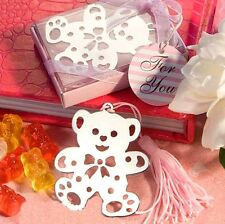 FD3699 Creative Pink Bear Exquisite Alloy Bookmarks With  Ribbon Box Cute Gift