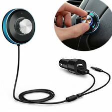 3.5mm Car Handsfree Bluetooth AUX Stereo Audio Receiver Adapter Dual USB Charger