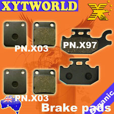 FRONT REAR Brake Pads for Yamaha YFM 400 Big Bear Grizzly 2005-2008