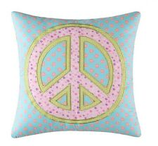 GROOVY PEACE SIGN ACCENT PILLOW : GIRLS TEEN LOVE BED CUSHION