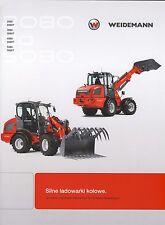 Weidemann 2080T 04 / 2015 catalogue brochure loader chargeuse Lader