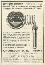 W3505 Termometro a distanza O.S. - Pubblicità 1933 - Advertising