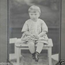 Vintage Photo Girl Toddler on Table: Iron River Studio, MI