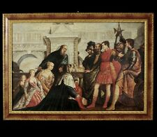 """ANTIQUE BAROQUE OIL PAINTING  ON CANVAS """"THE MYTHOLOGICAL SCENE """" 1700 ca"""