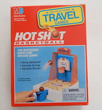 Milton Bradley Hot Shot Basketball Travel Game In Box WORKING R13026