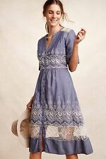 NWT Anthropologie [Embroidered Waters Shirt Dress by Moulinette Soeurs/ Size 0]