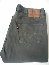 LEVI'S 501 JEANS  STRAIGHT LEG W34 L32 STRAUSS OVERDYED GREY LEVE126