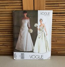 Vogue BRIDAL Original V2842 WEDDING Dress SEWING Pattern SIZES 18-20-22 ~ UNCUT