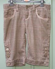 FISHBONE checked cropped trousers size S