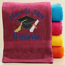 Personalized Graduation Gift Beach/Pool Towel - Free customized Embroidery