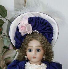 45cm  FRENCH PORTRAIT JUMEAU ANTIQUE REPRODUCTION DRESSED BEBE, COMPOSITION BODY