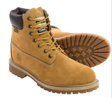 NEW KHOMBU WATERPROOF WORK BOOTS MENS 12 STYLE: HANK  WHEAT COLOR, WATERPROOF