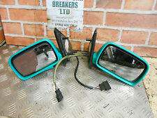 VOLKSWAGEN VW POLO 6N 1998 2 X PAIR DRIVER PASSENGER ELECTRIC WING MIRROR GREEN