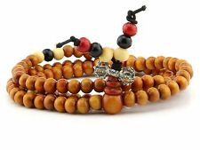 Wooden Buddhist Prayer Mala Multilayer spiritual Meditation Healing 6MM Bracelet