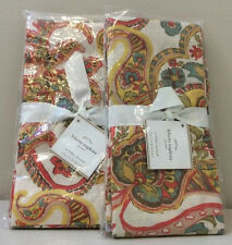 NWT Set of 8 Pottery Barn Warm Multi FELICITY PRINT Paisley Napkins