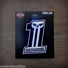 Harley Davidson Authentic Patch - HD #1 Skull  - Medium Emblem Badge