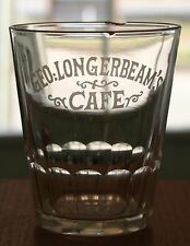 Rare Vintage Pre Prohibition Shot Glass Geo: Longerbeam's Cafe Cumberland, MD