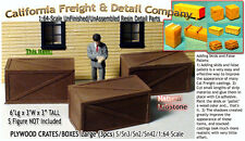 PLYWOOD CRATES-Large (3pcs) Scale Model Masterpieces Sn3 Fine Craftsman Detail