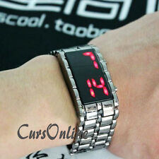 Bracciale OROLOGIO Digitale a Led Uomo Donna Bambino Iron Samurai Watch Display