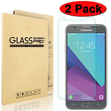 2-Pack Premium Tempered Glass Screen Protector for Samsung Galaxy J3 Emerge