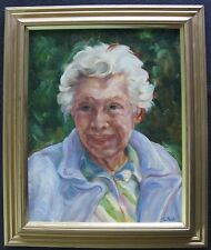 Vintage Impressionist Painting Portrait Old Woman Oregon Estate Signed L. Paul