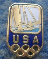 NOC USA OLYMPIC SAILING YACHTING TEAM ENAMEL PIN BADGE