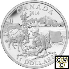 2014 'Gold Rush - Exploring Canada' Proof $15 Silver Coin .9999 Fine (13973)