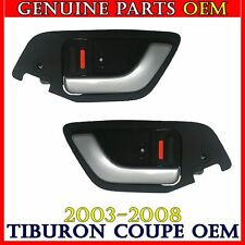 NEW Silver Inside Door Handle Catch & Cover Bezel SET Hyundai Tiburon 2003-2008