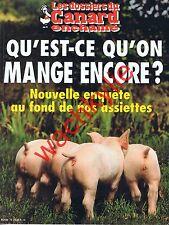 Les dossiers du canard n°76 - 07/2000 Qu'est ce qu'on mange encore? Alimentation