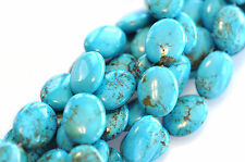 16.5 INCH STRAND TURQUOISE MAGNESITE GEMSTONE OVAL BEADS 20MM