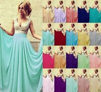 New Formal Long Ball Gown Party Cocktail Prom Bridesmaid Evening Dress Size 6-18