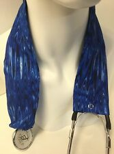 Blue Zigzag MD RN EMT LPN Stethoscope Cover  Buy 3 GET FREE SHIPPING