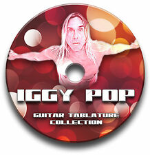 IGGY POP ROCK GUITAR TABS TABLATURE SONG BOOK SOFTWARE CD