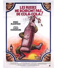 Affiche 120x160cm LES RUSSES NE BOIRONT PAS DE COCA COLA 1978 Luigi Comencini