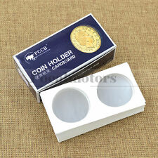 50 Cardboard 2x2 Coin Holder Mylar Flips for Dollars 40mm Hole With Box Hot Sale