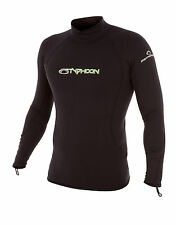 Long sleeve winter rash vest base layer stretchy ThermaFleece linning ALL SIZES