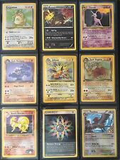 Pokemon Card Lot-  12 Cards!  1 Rare Guaranteed!  Mostly old, 1st Generation!