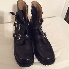 Women' Harley Davidson Boots Size 9 With 3straps And Buckles On Front And Zipper