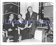 "Ilka Chase & 2 men with ABC Camera Promotional Photograph ""Celebrity Time"""